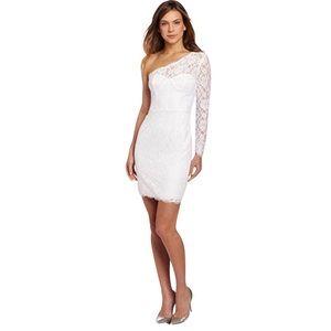 NWT BCBG MAXAZRIA Arlena One-Shoulder Lace Dress